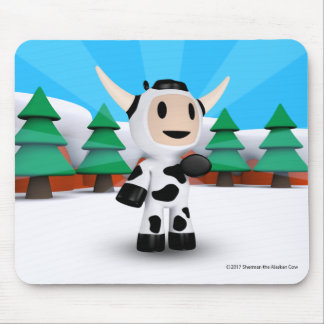 Sherman the Alaskan Cow Mouse Pad