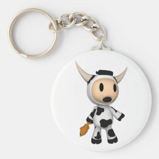 Sherman the Alaskan Cow Surprised Keychain