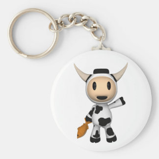 Sherman the Alaskan Cow Wave Key Chain