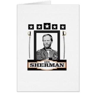 Sherman tient le premier rôle des épées carte de vœux