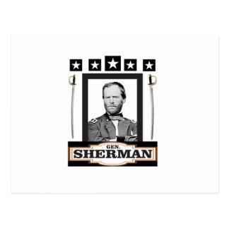 Sherman tient le premier rôle des épées carte postale