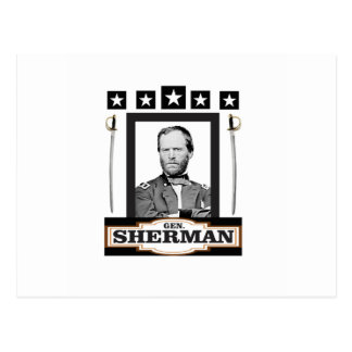 Sherman tient le premier rôle des épées cartes postales