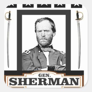 Sherman tient le premier rôle des épées sticker carré