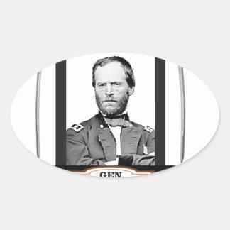 Sherman tient le premier rôle des épées sticker ovale