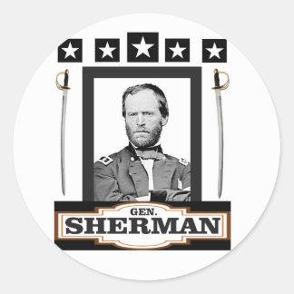 Sherman tient le premier rôle des épées sticker rond
