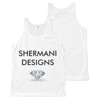 Shermani Designs-Diamond All-Over-Print Tank Top