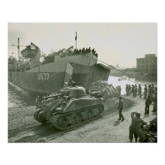 Shermans at Anzio Poster