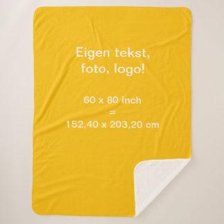 Sherpa Fleece Deken Large uni Geel Sherpa Blanket