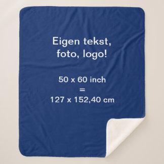 Sherpa Fleece Deken Medium uni Blauw Sherpa Blanket