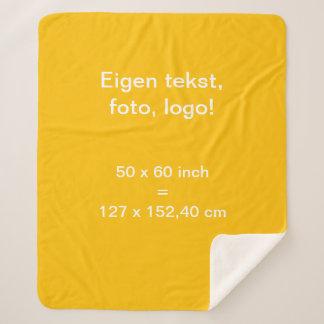Sherpa Fleece Deken Medium uni Geel Sherpa Blanket