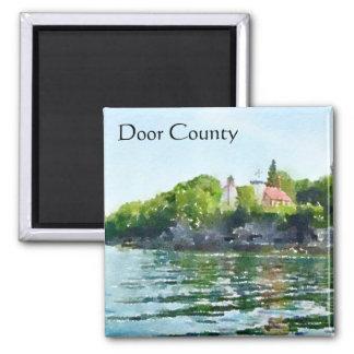 Sherwood Point Watercolor Door County Magnet