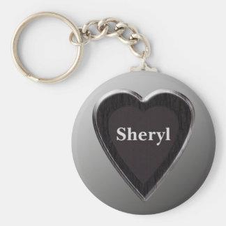 Sheryl Heart Keychain by 369MyName