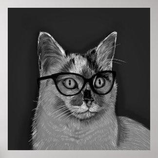 She's A Cool Cat Poster Art Print