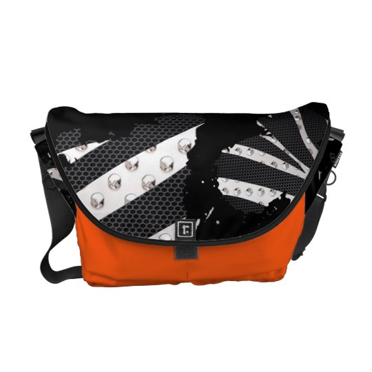 Shes A Mess Zebra Metal Paint Splatter Bag Commuter Bag