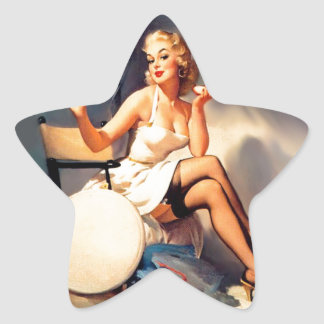 She's a Starlet Pin Up Girl Star Sticker