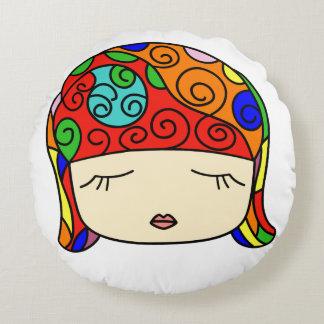 She's Cute as a Button Sleepy Head Colorful Pillow