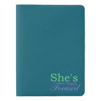 She's Finally Focused Extra Large Moleskine Notebook
