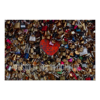 Shes got the lock of love - Paris Love Locks Poste Poster