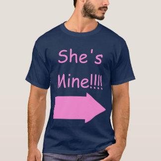 She's Mine!!!! Pride Shirt, with Transgender Hand T-Shirt
