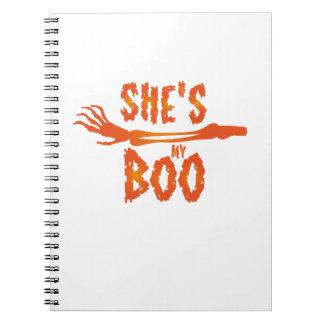 She's My Boo Halloween Love Couple Married Notebooks