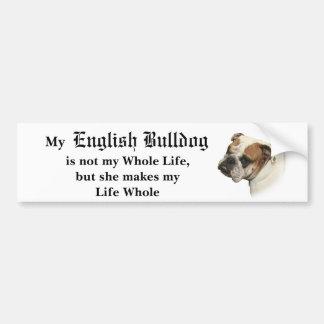 She's My Bulldog Bumper Sticker