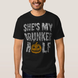 Shes My Drunker Half Halloween Couples Costume Tee Shirts