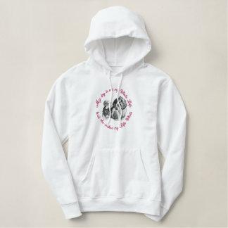 She's My Shih Tzu Embroidered Hooded Sweatshirt