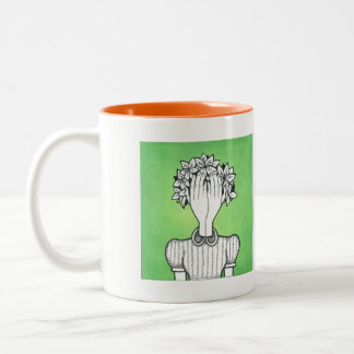 She's Not There Art Two-Tone Coffee Mug