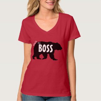 Shes the Boss Grizzly Bear Silhouette T-shirts