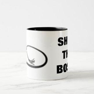 SHE'S THE BOSS! Two-Tone COFFEE MUG