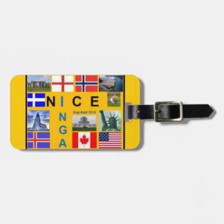 Shetland Flag Luggage Tag