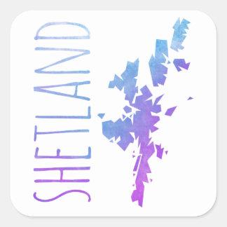 Shetland Islands Square Sticker