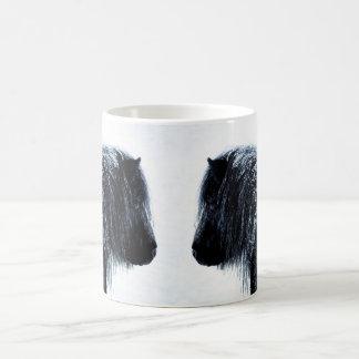 Shetland ponies in winter Mug