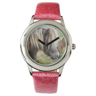 Shetland Pony, Bad, Hair Day, Girls Pink Watch