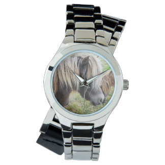 Shetland Pony, Bad, Hair Day, Ladies Silver Watch