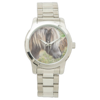 Shetland Pony, Bad, Hair Day, Unisex Silver Watch