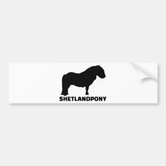 Shetland Pony Bumper Sticker