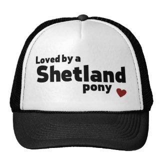 Shetland pony trucker hat