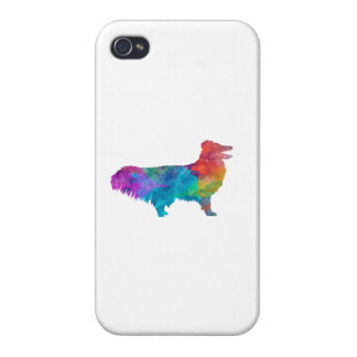 Shetland Seepdog in watercolor Case For iPhone 4