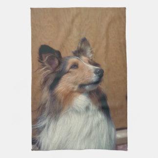 Shetland Sheepdog American MoJo Kitchen Towel
