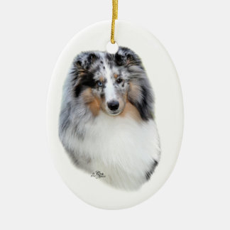 Shetland Sheepdog-blue merle ornament