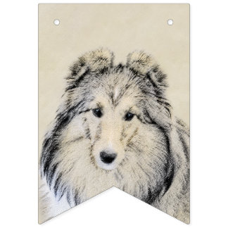 Shetland Sheepdog Bunting Flags