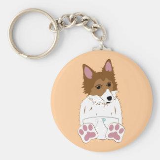 Shetland Sheepdog Diaper Puppy Key Chains