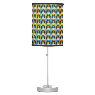 Shetland Sheepdog Dog Cartoon Pop-Art Table Lamp