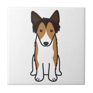 Shetland Sheepdog Dog Cartoon Tile