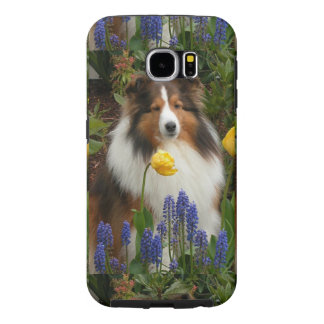 shetland sheepdog in flowers.png samsung galaxy s6 cases