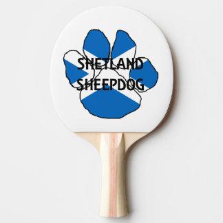 shetland sheepdog name Scotland flag paw Ping-Pong Paddle