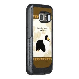 Shetland Sheepdog on Tan Leaves OtterBox Samsung Galaxy S7 Case