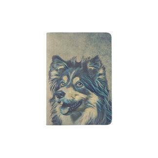 Shetland Sheepdog Painting Custom Passport Holder