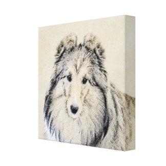Shetland Sheepdog Painting - Cute Original Dog Art Canvas Print